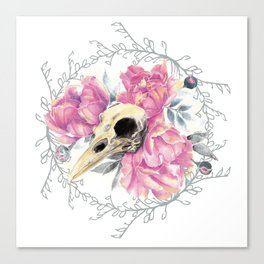 Avian Flower Bones Canvas Print