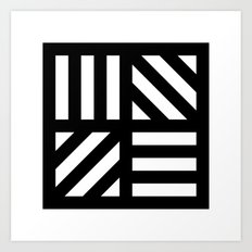 B/W striped window pattern Art Print