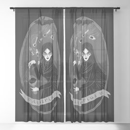 Aquarius Witchy Zodiac Sheer Curtain