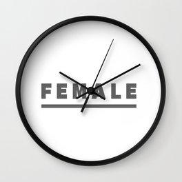 FEMALE Wall Clock
