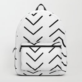 Mudcloth Black and White Backpack