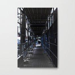 City Sidewalk Metal Print