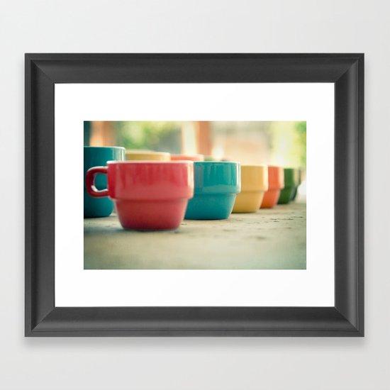 Rainbow Mugs Framed Art Print