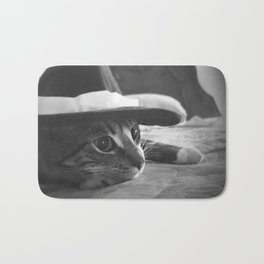 Molly in black and white Bath Mat