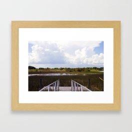 Everglade Dock Framed Art Print