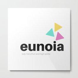 Eunoia Word Definition Metal Print