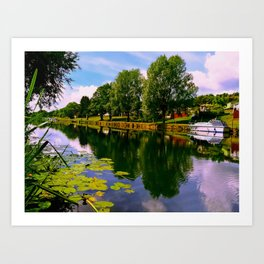 River Perspective. Art Print