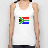 south africa Tank Tops featuring south africa country flag by tony tudor