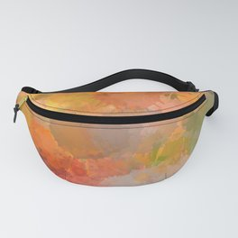 Modern contemporary Yellow Orange Abstract Fanny Pack