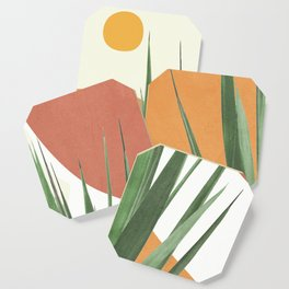Abstract Agave Plant Coaster