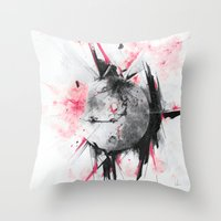 mars Throw Pillows featuring Mars by Alexis Marcou