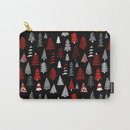 Christmas tree forest minimal scandi patterned holiday forest winter Carry-All Pouch