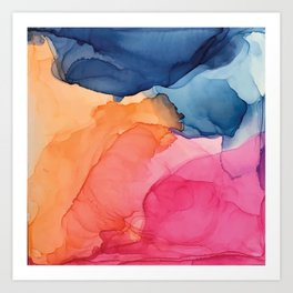 Tropical Bliss - Alcohol Ink Painting Art Print