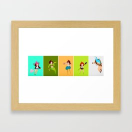 Color girls Framed Art Print