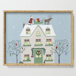 Christmas House Serving Tray