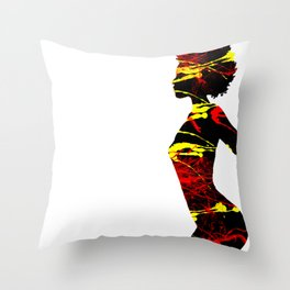 Color Girl Power Throw Pillow