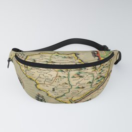 Map Of Anglesey 1608 Fanny Pack