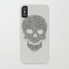 Grey Skull Illustration iPhone Case