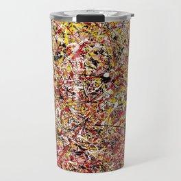 TENDER SUN - Jackosn Pollock style drip painting art design, dripping design, splash patern modern art Travel Mug
