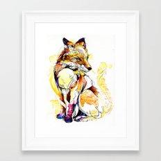 Fox Flow Framed Art Print