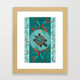 Visitors Anasazi Folk Art Framed Art Print