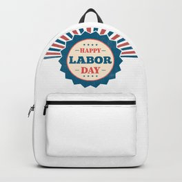 Happy National Labor Day Backpack
