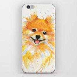 Happy Pomeranian iPhone Skin