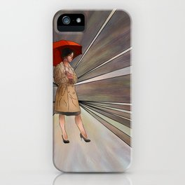 Limessia - beauty with umbrella iPhone Case