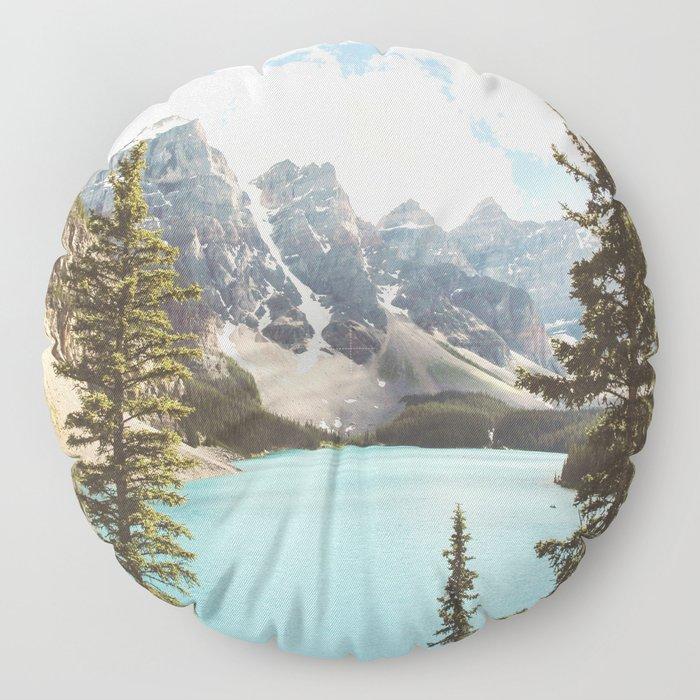 Moraine Lake II Banff National Park Floor Pillow