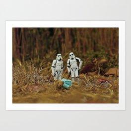 stormtroopers/bear Art Print