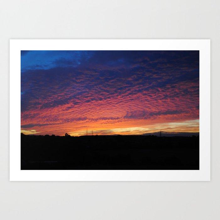 Colourful sunset Art Print