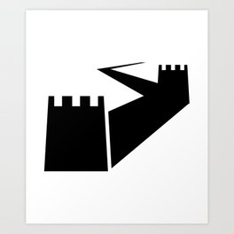Great Wall Silhouette Art Print
