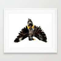 singapore Framed Art Prints featuring Singapore Bird by June Chang Studio
