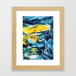 WinterFullMoon Framed Art Print
