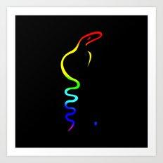 Gay Dancing Cobra Art Print