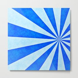 Blue sunburst Metal Print