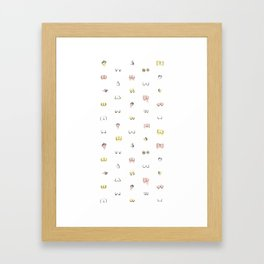 more butts and boobies Framed Art Print