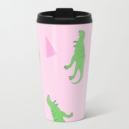 T-Rex Girly Pattern Travel Mug