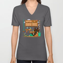 Mario Super Bros Unisex V-Neck