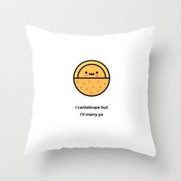 JUST A PUNNY CANTALOUPE JOKE! Throw Pillow