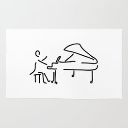 pianist musician plays the piano Rug