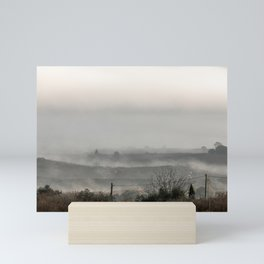 Foggy landscape Mini Art Print