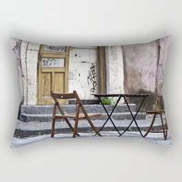 Table and Chairs - Catania - Sicily Rectangular Pillow
