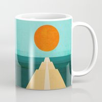 road Mugs featuring The Road Less Traveled by Picomodi