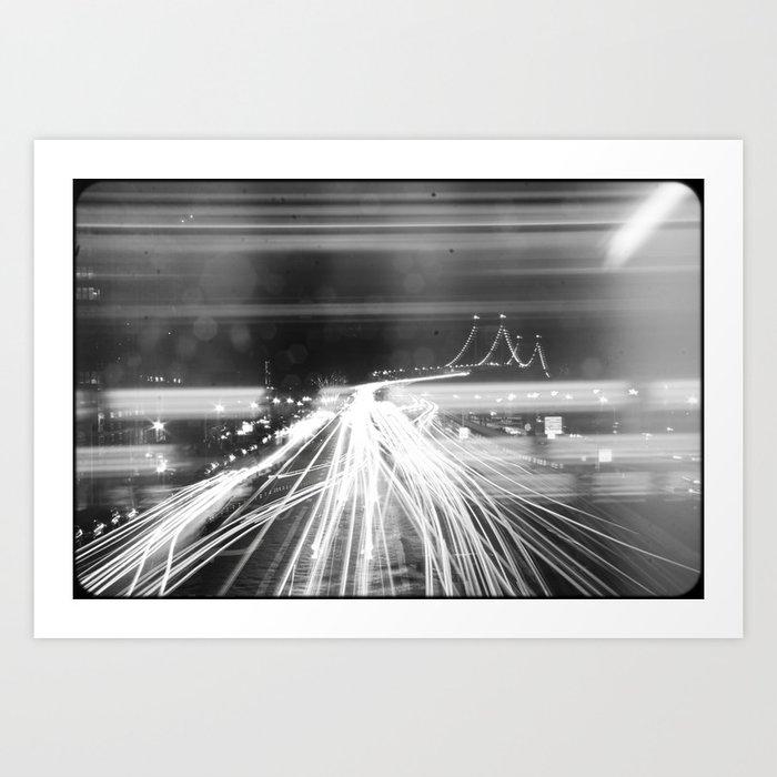 The Night Vibes Electric Art Print