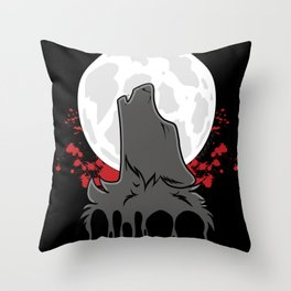 Howl at the Moon (Awoo) Throw Pillow