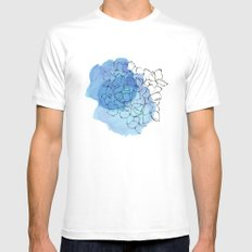 hydrangea MEDIUM Mens Fitted Tee White