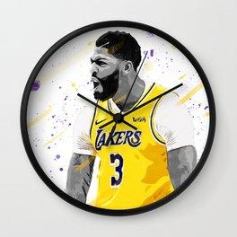 Anthony Davis Basketball Print Basketball Wall Art Basketball Poster Basketball Wall Decor Poster Wall Clock