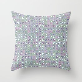 Colorful Groovy Funky Pattern Throw Pillow