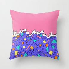 The wave of shapes Throw Pillow